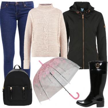 Outfit La pioggia non ci ferma