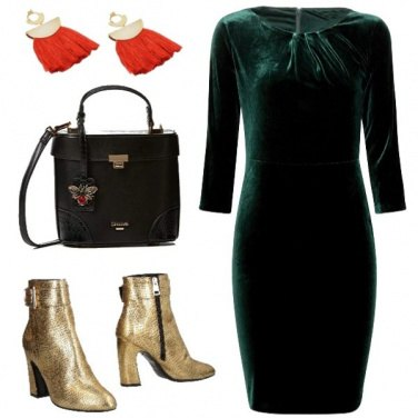 Outfit Christmas in velvet