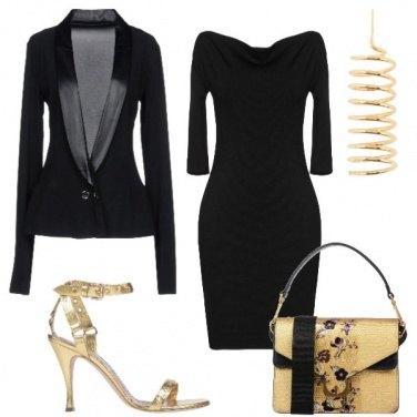 Outfit Serata in nero e oro!