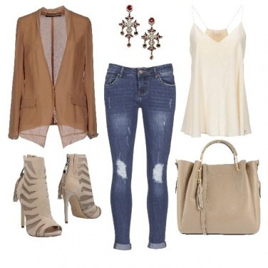 Outfit Jeans blu