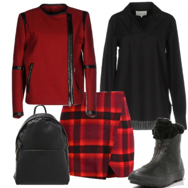 Outfit Scacco rosso