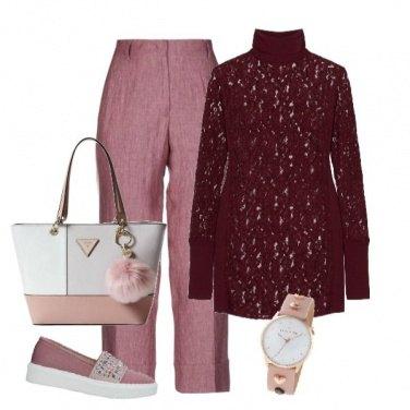 Outfit Delicata nelle tonalità del rosa