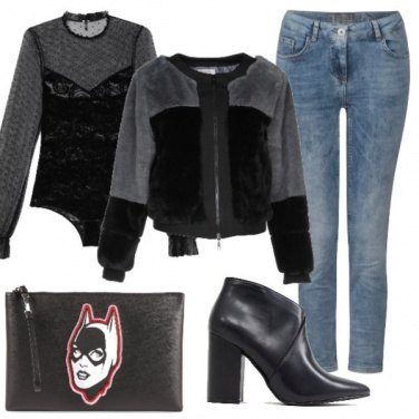 Outfit Fashion in jeans