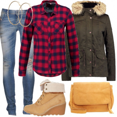 Outfit Scacco all\'inverno