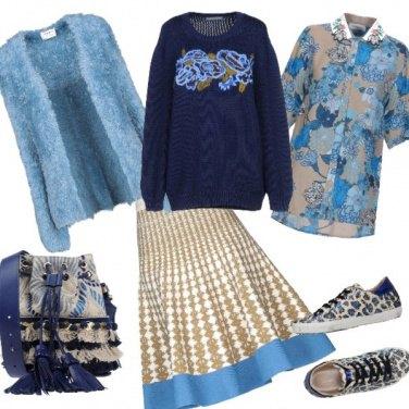 Outfit Il cardigan effetto Pelliccia