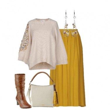 Outfit Maglia con applicazioni di paillettes