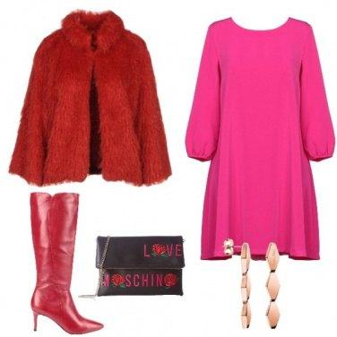 Outfit Contrasti in rosso e fucsia