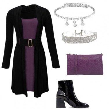 Outfit Black end purple