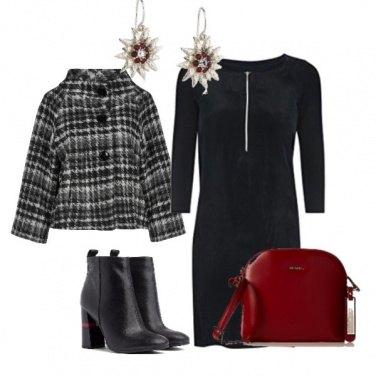 Outfit Aperitivo natalizio in dolce attesa
