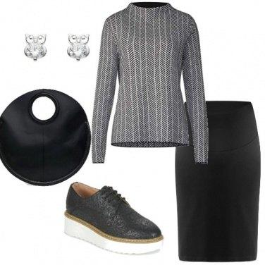 Outfit Bianco e nero originale