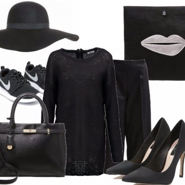 Outfit Black is the new black mfw #2