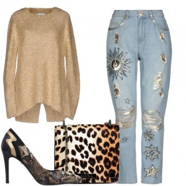 Outfit Con i jeans a Natale