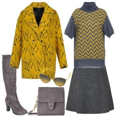 Outfit Mescolare il grigio e giallo