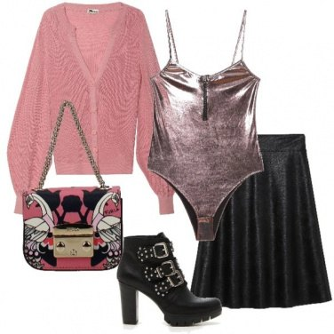 Outfit Trendy in rosa