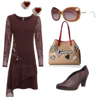 Outfit Marrone bordeaux