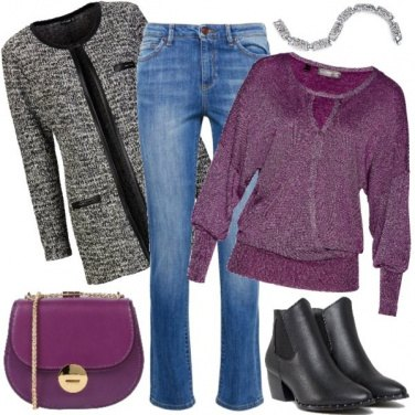 Outfit Cappottino in lana sopra ai jeans
