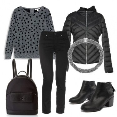 Outfit Look quotidiano con un tocco glam