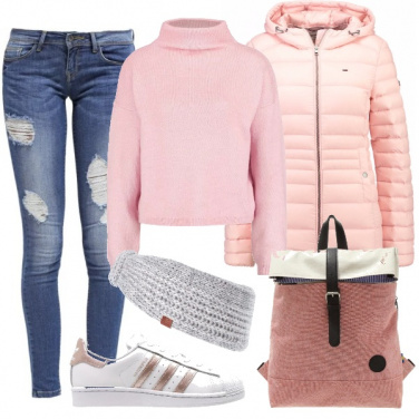 Outfit Semplicità in rosa