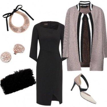 Outfit Nero e Cipria
