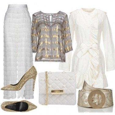 Outfit Bianco e oro per Natale