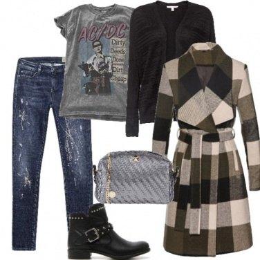 Outfit Il cappotto è rock