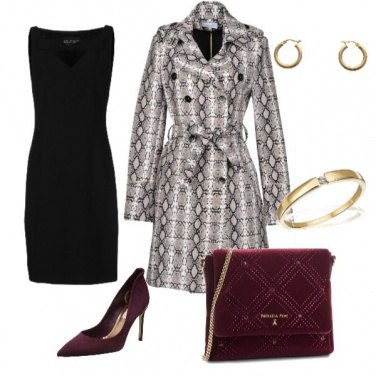 Outfit Red & Gold Chic