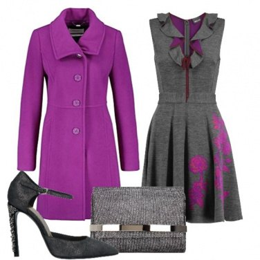 Outfit Feste in viola