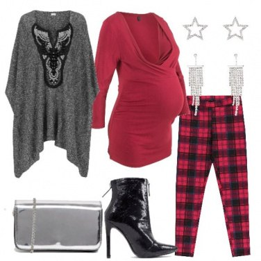 Outfit Poncho e leggings