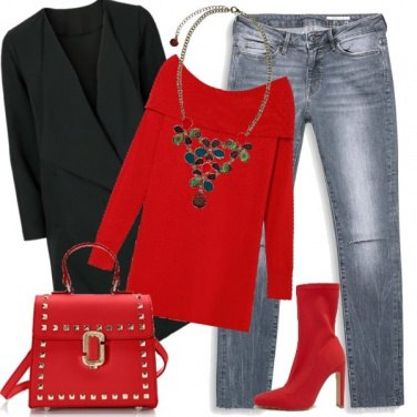 Outfit Jeans anche a Natale