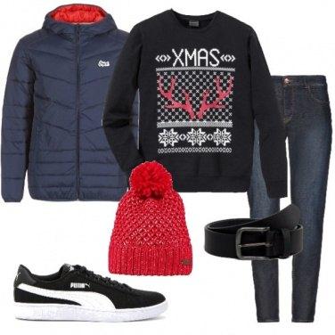 Outfit La felpa natalizia