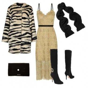 Outfit Serata di festa tutta d\'oro