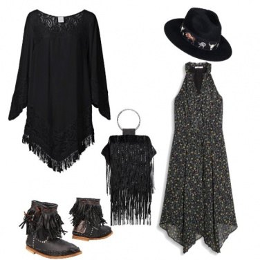 Outfit Cowgirl in black