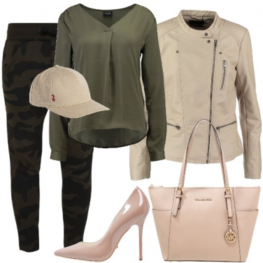 Outfit Militare in rosa