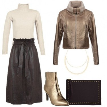 Outfit Gold & chocolate