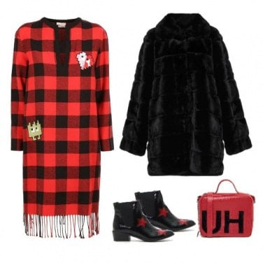 Outfit Red and black️