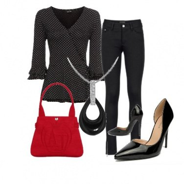 Outfit Una maglia a pois