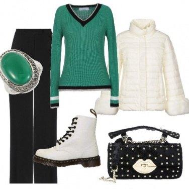 Outfit Dettagli in verde