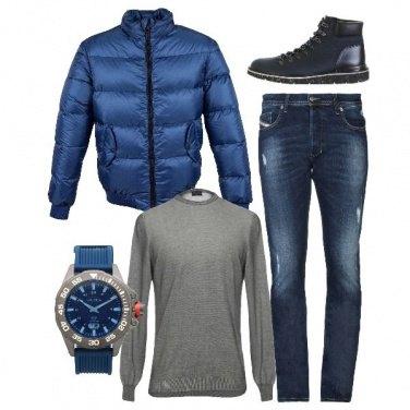 Outfit Il grigio e il blu