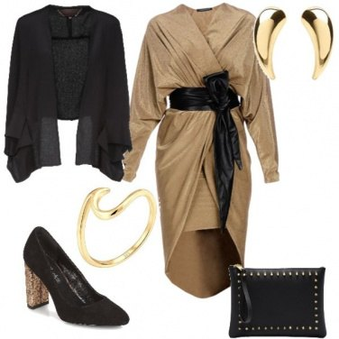 Outfit Natale Gold