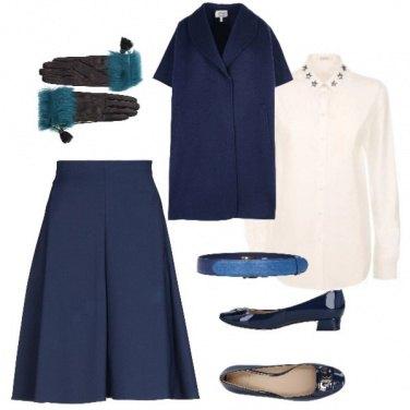 Outfit Brunch di Natale in blu