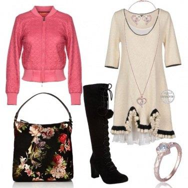 Outfit Romantica con volant e tulle