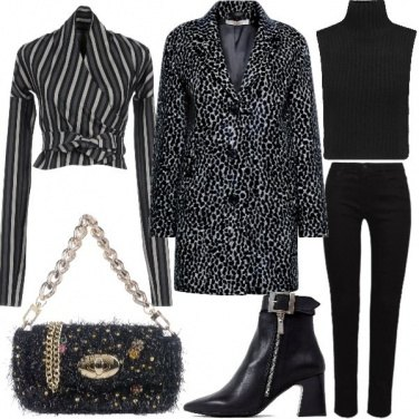 Outfit Righe e animalier
