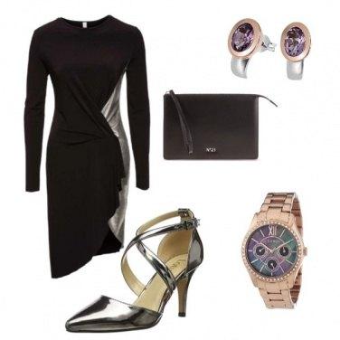 Outfit Oro argento e...lilla