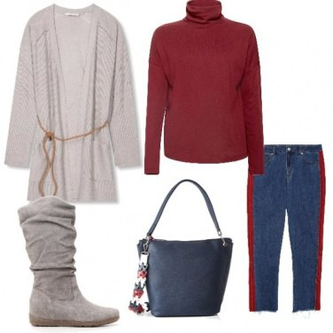 Outfit Grey and red