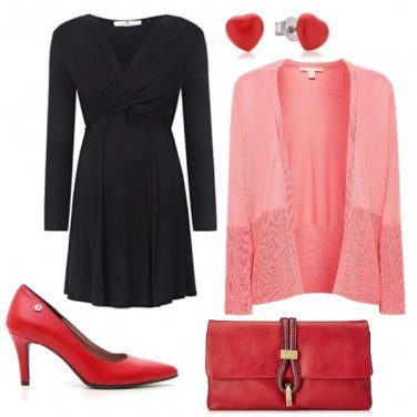 Outfit Natale in dolce attesa