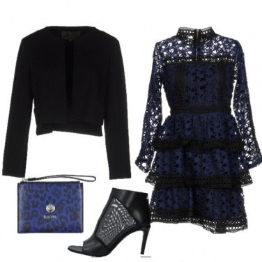 Outfit Nero blu