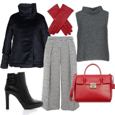 Outfit Coulotte pants da ufficio