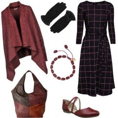 Outfit L\'abito longuette a quadri