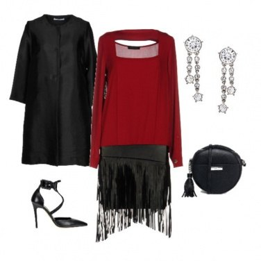 Outfit Natale in stile rock