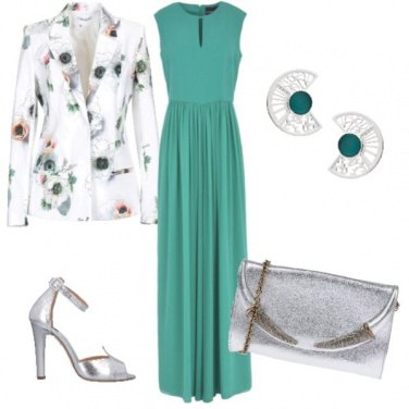 Outfit Cerimonia in color Tiffany